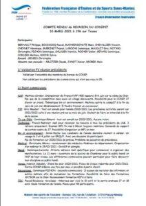 Réunion du 10 mars 2021